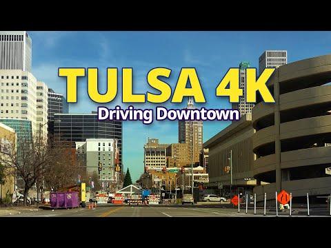 Tulsa 4K - Driving Downtown -  Oklahoma, USA