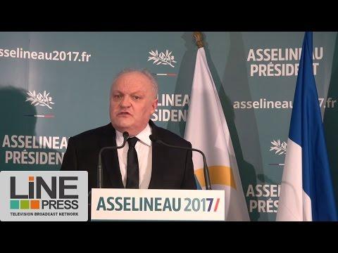 François Asselineau. Déclaration de candidature présidentielle 2017 / Paris - France 10 mars 2017