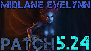 ► Season 6 Midlane Evelynn! - Patch 5.24 - Full Game Commentary - League of Legends