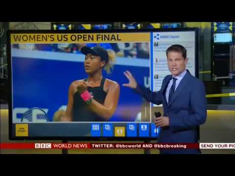 Serena Williams' outburst as Osaka wins the US Open on BBC World