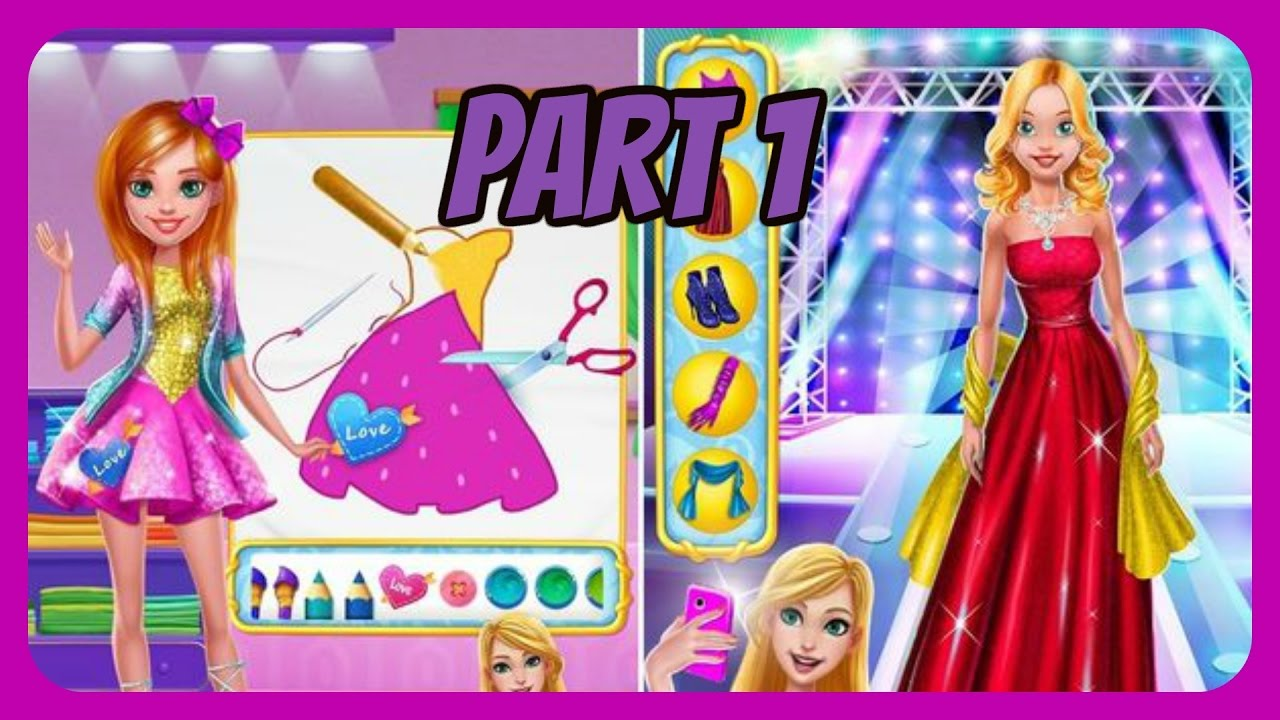 Design It Girl Fashion Salon Levels 1 10 New Tabtale Game Gameplay Free Kids Apps Movie Youtube