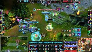 SHR (Insec Fiddlestick) VS OMG (Cool TF) Game 3 Highlights {EPIC} - S4 World Semifinal