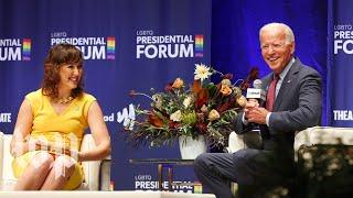 Biden's awkward, tense moments at first 2020 LGBTQ forum