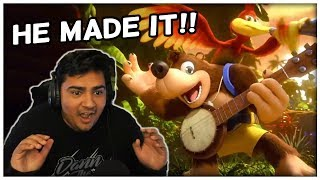 BANJO MADE IT INTO SMASH! | Nintendo Direct Reaction!