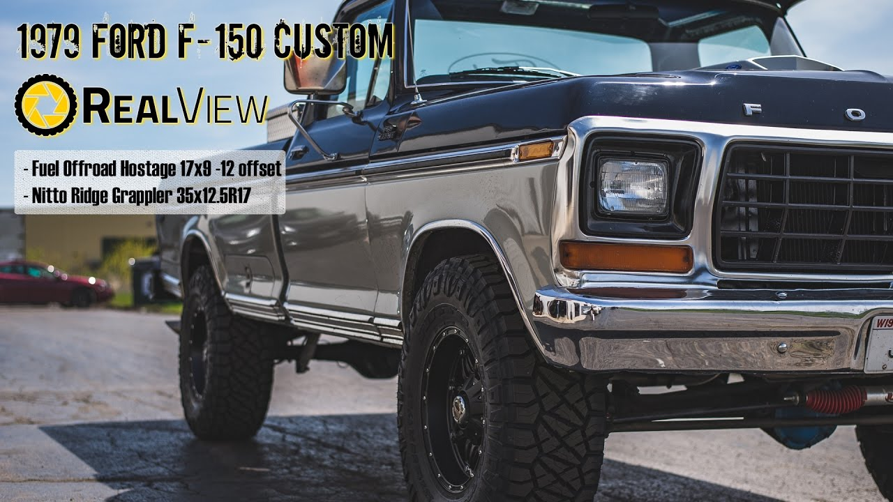 realview 1979 ford f 150 custom w 17 fuel offroad hostage 35 nitto ridge grappler [ 1280 x 720 Pixel ]