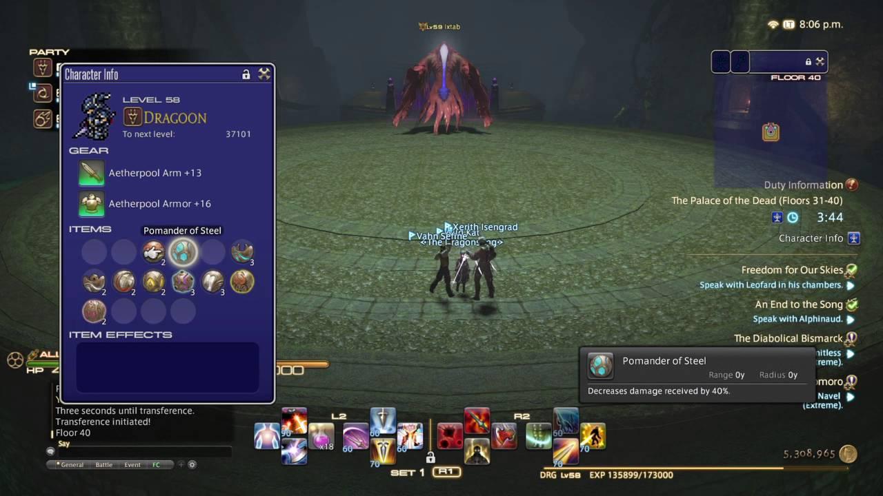 Final Fantasy Xiv Palace Of The Dead Floor 40 Boss Ixtab Youtube