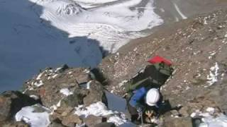 Climbing for Dzhigit peak (5170m) in Tian Shan mountains