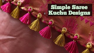 Simple Saree Kuchu Designs / Saree Kuchu design in 3 minuets