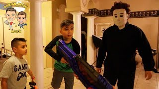 MICHAEL MYERS HOME INVADER MOVIE | HALLOWEEN | D&D SQUAD BATTLES