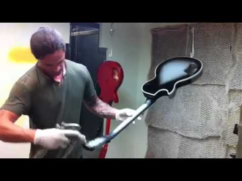 Painting a custom silver burst