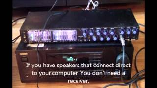 How to connect a Mixer to computer for Karaoke