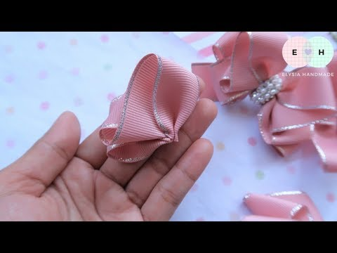 Amazing Ribbon Bow - Hand Embroidery Works - Ribbon Tricks & Easy Making Tutorial #61