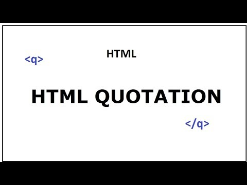 Use Quotation In Html Web Page