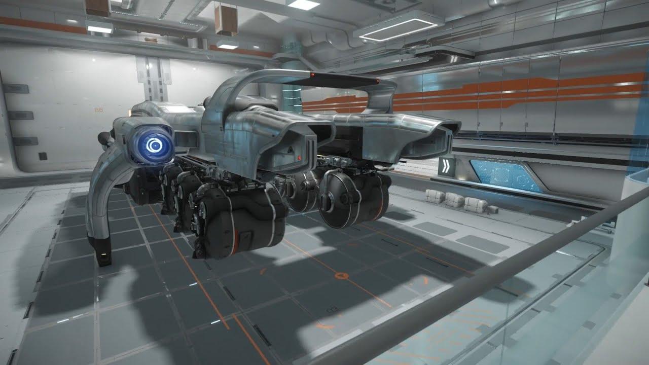 Star citizen visite du starfarer le plus gros vaisseau for Interieur vaisseau star wars