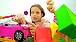 Машину Барби забрал эвакуатор. Игрушки и игры для девочек
