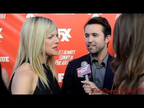 Kaitlin Olson & Rob McElhenney at FXX Network Launch Party #SunnyFXX @kaitlin_olson @RMcElhenney