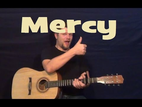 Mercy (Duffy) Easy Strum Chords Guitar Lesson How to Play Mercy ...
