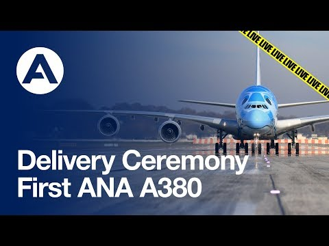 Delivery ceremony: First A380 to All Nippon Airways (ANA)