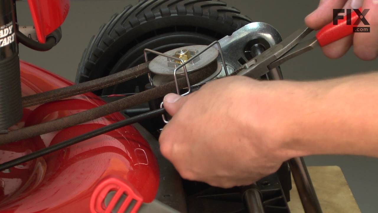 Troy Bilt Lawn Mower Repair How To Replace The Drive Cable