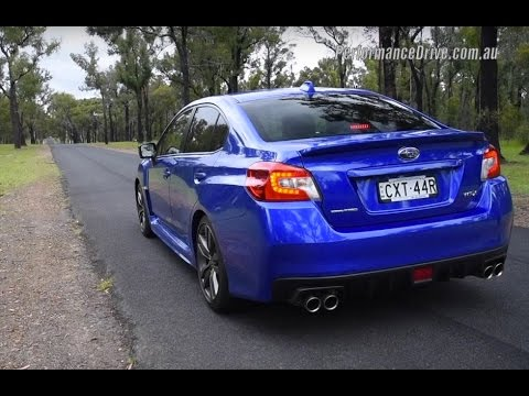 2016 subaru wrx 0-100km/h & engine sound (manual vs cvt auto.