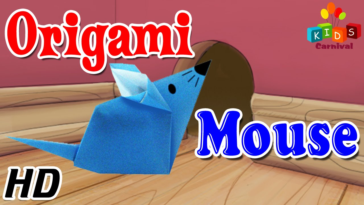 Origami - How To Make MOUSE (RAT) - Simple Tutorials In ...