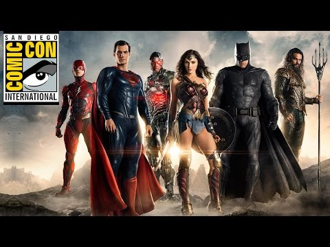 JUSTICE LEAGUE amp WONDER WOMAN TRAILER REACTIONS   Comic Con  Poster