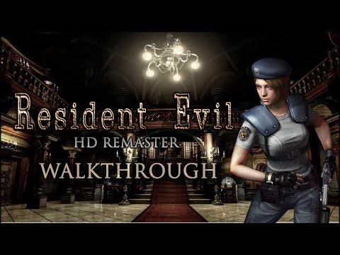 Resident Evil HD Remaster - Jill Hard Mode Walkthrough - Best Ending / No Saves