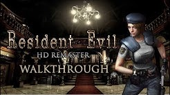 Resident Evil HD Remaster - Jill Hard Mode Walkthrough - Best Ending / No Saves