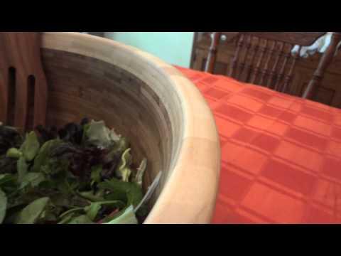 Extra Large Bamboo Salad Bowl