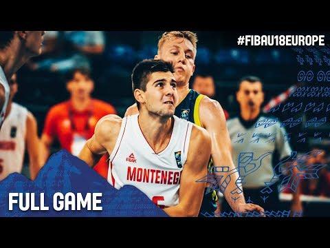 Montenegro v Slovenia - Full Game - Classification - FIBA U18 European Championship 2017