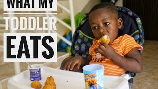 WHAT MY NIGERIAN TODDLER EATS IN A DAY | TODDLER MEAL IDEAS