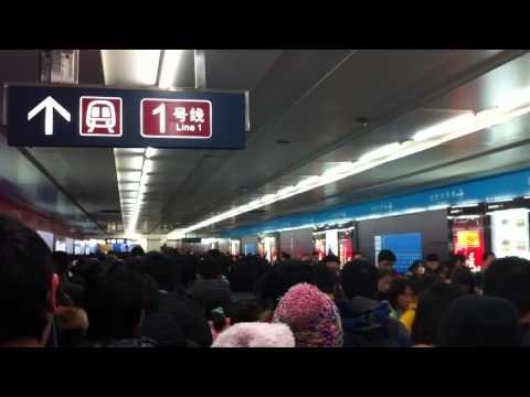 traffic jam in beijing subway