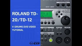 Roland TD-12 TD-20  V-Drums DVD Video Tutorial  Help Review