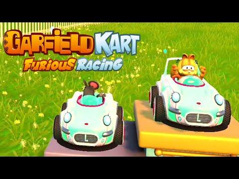 Garfield Kart Furious Racing Gameplay Walkthrough Part 1 ( Full Game)