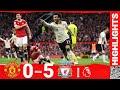 أغنية Highlights Manchester United 0 5 Liverpool Salah Hat Trick Stuns Old Trafford