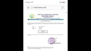 Cara Cetak Surat Keterangan Kelulusan Kelas Ix Smp Plus Zainul Hasan