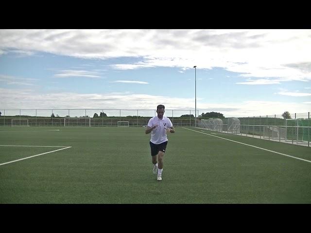 Opwarmingsoefening voetbal