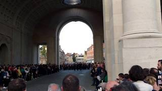 Ieper Ypres Menenpoort Meningate Last Post Saturday September 9th 2017.