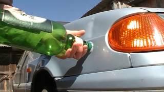 Как убрать вмятину на кузове (ВАЗ 2115)(Пытаюсь убрать вмятину на крыле автомобиля ВАЗ 2115. Полностью не получилось убрать, вмятина старая, также..., 2016-05-04T08:13:35.000Z)