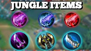 JUNGLE ITEMS PASSIVE EFFECT EXPLAINED | HOW DO THEY WORK | MOBILE LEGENDS