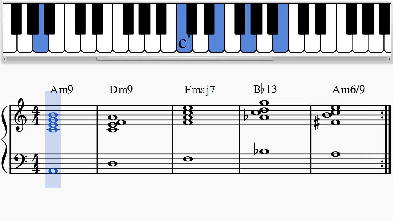 Jazz Piano 'Amazing' Chord Progression Am15    Dm15    Fmaj15    Bb15    Am15/15