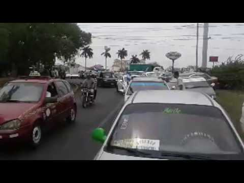 Protesta de Taxistas en Managua