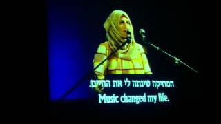 Yasmin, speaking at the Joint Israeli Palestinian Memorial Ceremony