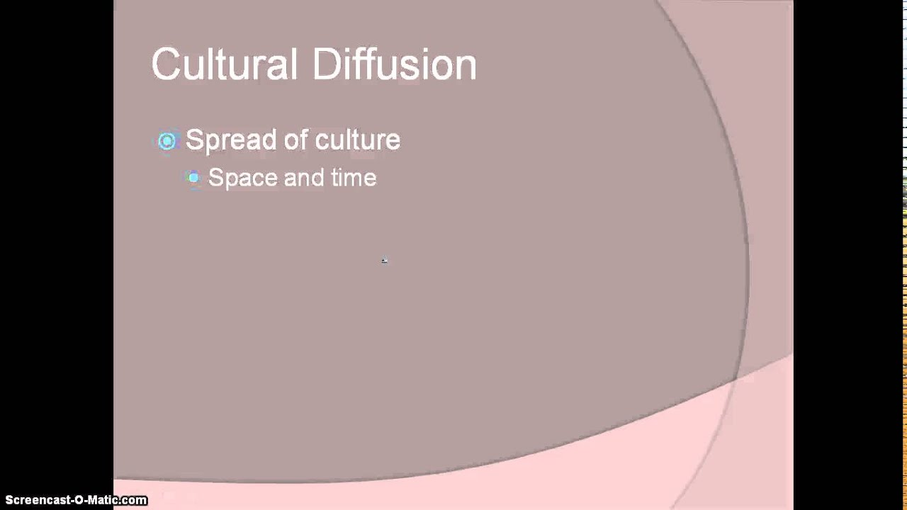 cultural diffusion space time compression and the What is cultural diffusion there are many cultures in the world which are contact in one way or other with one the process of diffusion is due to the spread of cultural traits both the material and non-material material traits spread quickly while non-material takes more time and spread gradually.