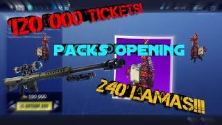 Giga Pack opening 240 llamas [Fortnite Save the World]