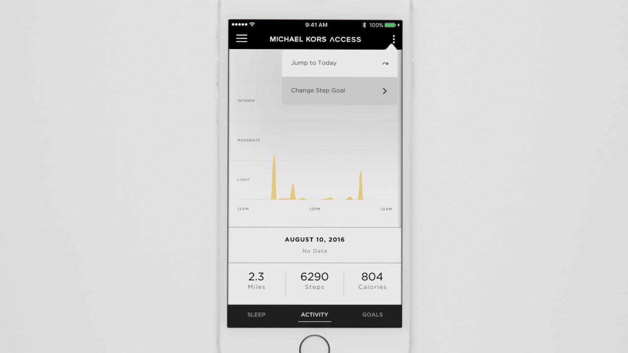 Michael Kors Access Hybrid Smartwatch / Ihre Schritte verfolgen