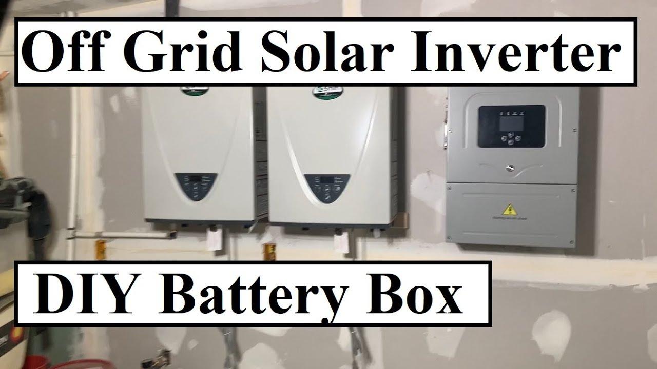 Off Grid Solar Inverter (Sol-Ark), DIY Sealed Battery Box, Tankless Water  Heater