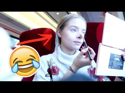 I DID MY MAKEUP ON THE TRAIN.. | sophdoesvlogs