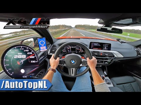 BMW X4M Competition 510HP TOP SPEED On AUTOBAHN POV (NO SPEED LIMIT) By AutoTopNL