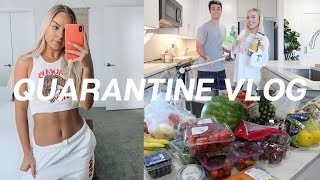 QUARANTINE VLOG: clean w us, groceries & playing tennis!